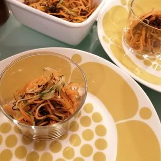 野菜を食べよう!にんじん&きゅうりの塩こんぶ和え