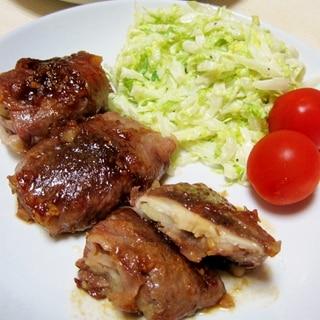 うまっ♪肉巻き椎茸ポテト