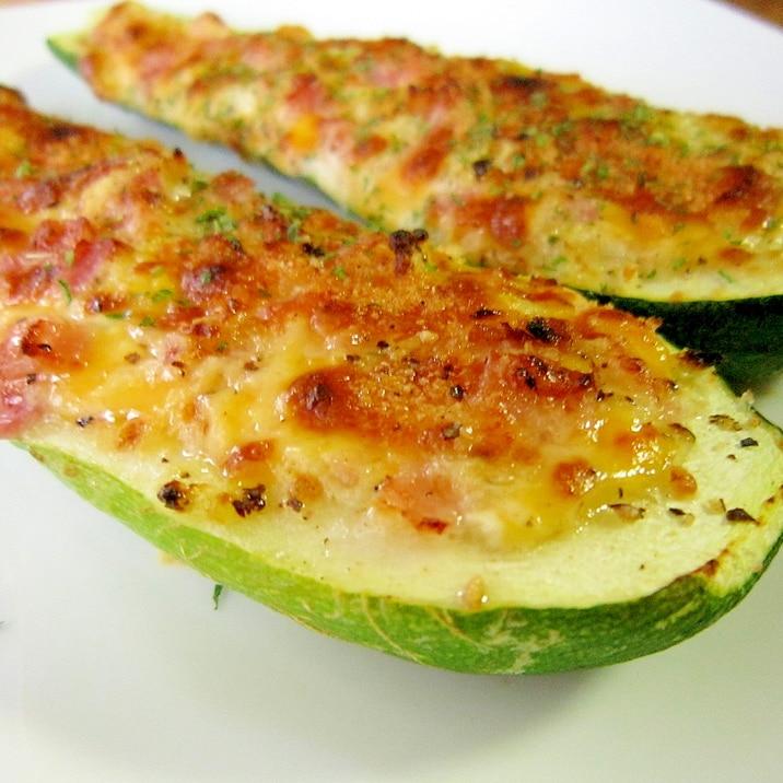 簡単☆ズッキーニのチーズマヨボート♪
