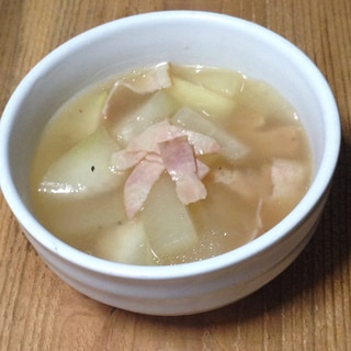 冬瓜とベーコンのとろみスープ♪