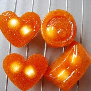 オレンジジュースでソフトキャンディー