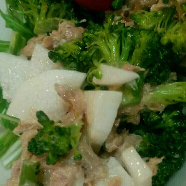 シャキシャキ山芋&ブロッコリーとツナのサラダ
