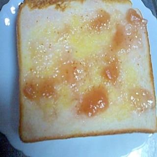 いちじくジャム&マーガリントースト