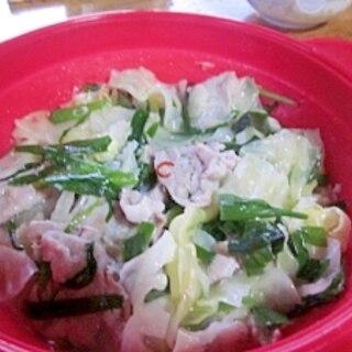 スチーマー利用~きゃべつと豚バラ肉の塩麹鍋