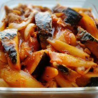 フライパンで♪ カボチャと豚肉のコチュジャン煮★