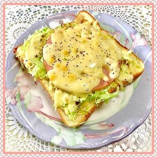 簡単!キャベツとハムの★カレーチーズトースト