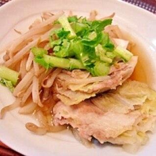 もやしをプラス★豚バラと白菜の重ね鍋