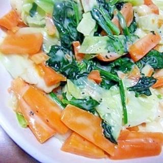 野菜のホワイトソース炒め★