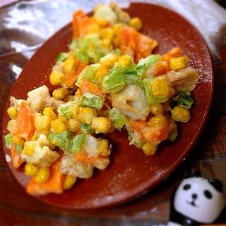 本葛粉で失敗しない!彩り野菜のサクサクかき揚げ