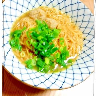 皿うどんの麺で和ラーメン風