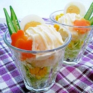 ✿ポテトサラダde野菜パフェ✿