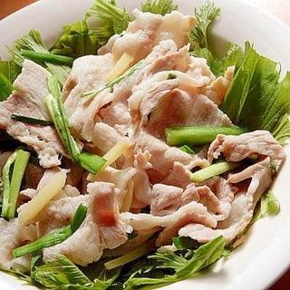 5分!?国産豚バラ&生姜❤しゃぶしゃぶ風サラダ♪