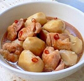 里芋と鶏肉の旨辛煮