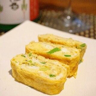 【京都食材使用】ちりめん山椒と九条葱の出汁巻き