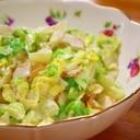 春キャベツとちくわの味噌マヨサラダ