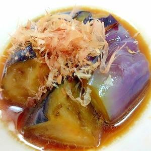 電子レンジde(^^)冷凍揚げナスの煮びたし♪