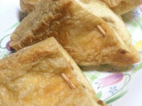 油揚げのネギ納豆マヨはさみ焼き