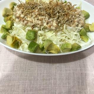 納豆キャベツサラダ