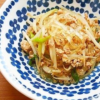 葛切り・豚ミンチ・野菜のオイスター炒め♪