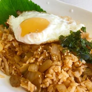 簡単韓国料理♡キムチポックンパ