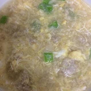 残った春巻きの具でスープ