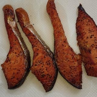 鮭 切身の燻製