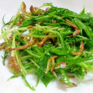 水菜とじゃこの温サラダ