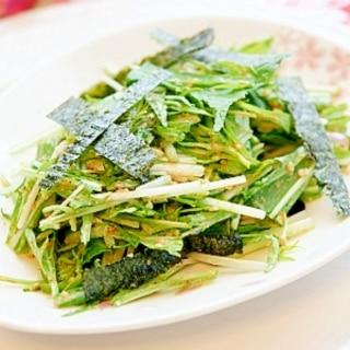 もりもり食べれる♪美味しい★水菜と海苔のサラダ★
