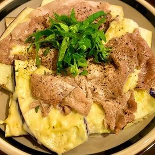 ☆レンジで5分☆ ナスと豚肉のチーズ焼き