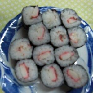 カニカマときゅうりの細巻寿司