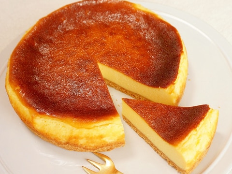 冷凍したクリームチーズを使ったベイクドチーズケーキ
