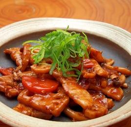 豚バラとれんこんのピリ辛炒め煮