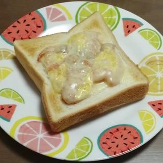 サクサクキムチトースト