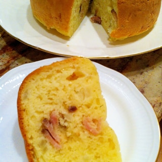 炊飯器とHMで簡単♡ベーコンチーズオニオンケーキ