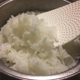 家庭用鍋で米炊き