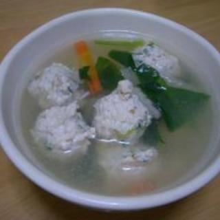 鶏肉だんごスープ