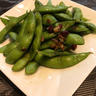 おつまみに!枝豆のペペロンチーノ