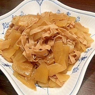 ヤーコンと豆腐皮のそぼろ炒め