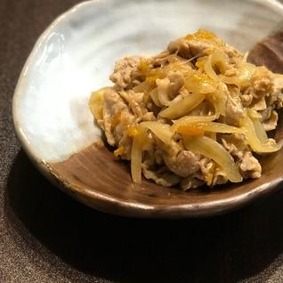 マーマレードでさっぱり*新玉ねぎと豚の生姜焼き