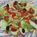 トマト玉ねぎドレッシングでサラダ豆とりんごサラダ☆