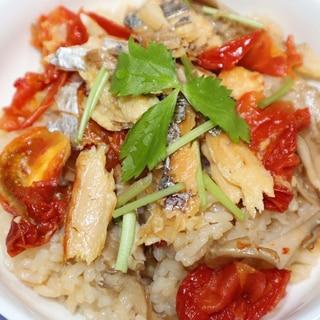 ヒルナンデス☆太刀魚の干物と乾燥舞茸で炊き込みご飯