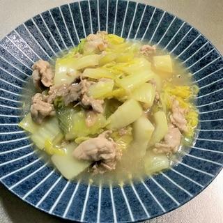 ご飯に合う 白菜と豚バラのすっぱ煮