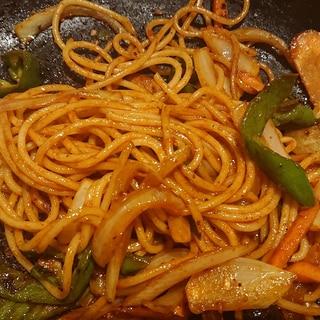 ニンニクたっぷりケチャップスパゲティ