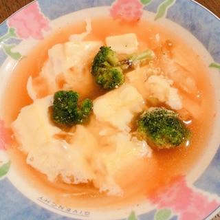 野菜と豆腐のチーズキムチスープ