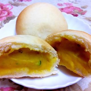 自家製☆米粉でもっちり☆かぼちゃ豆乳クリームパン