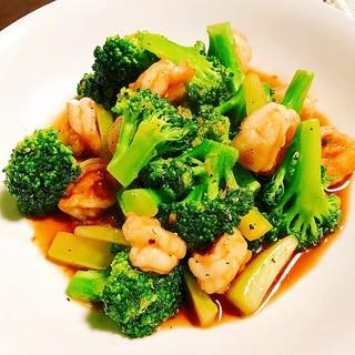 簡単絶品おかず✦海老とブロッコリーのタイ中華炒め✦