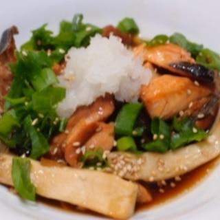 圧力鍋で骨まで食べられる鮭のあら煮