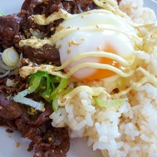 ごま油&塩がpoint!韓国風な焼肉ごはん~*