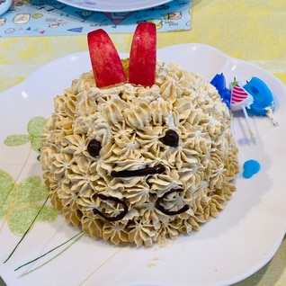 すみっこぐらし(エビフライのしっぽ)ケーキ