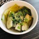 茄子と青梗菜の中華スープ